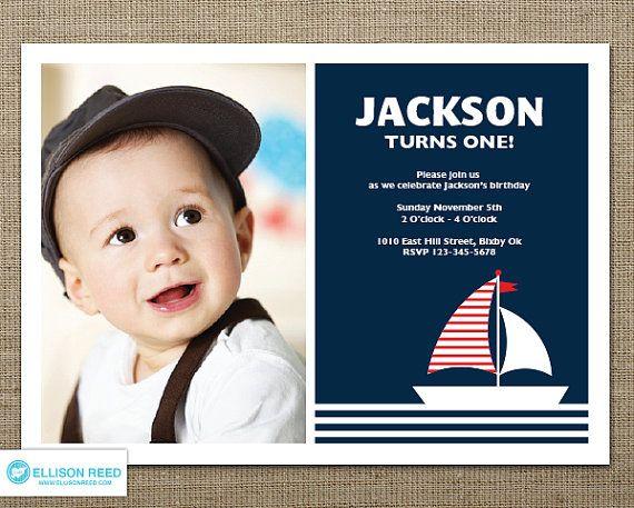 Printable Birthday Invitations For Boy ~ Nautical invitation birthday invitation ahoy boy birthday