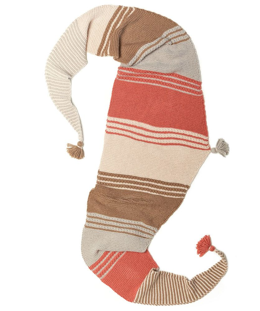 Long and Stripy Shawl | Red Heart | Triangle shawls, Scarf ...