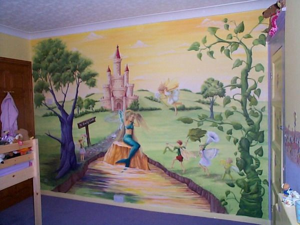 Murals for walls kids room murals kids room castle wall for Castle mural kids room