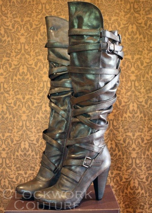 steampunk boots from clockwork couture ファッション style