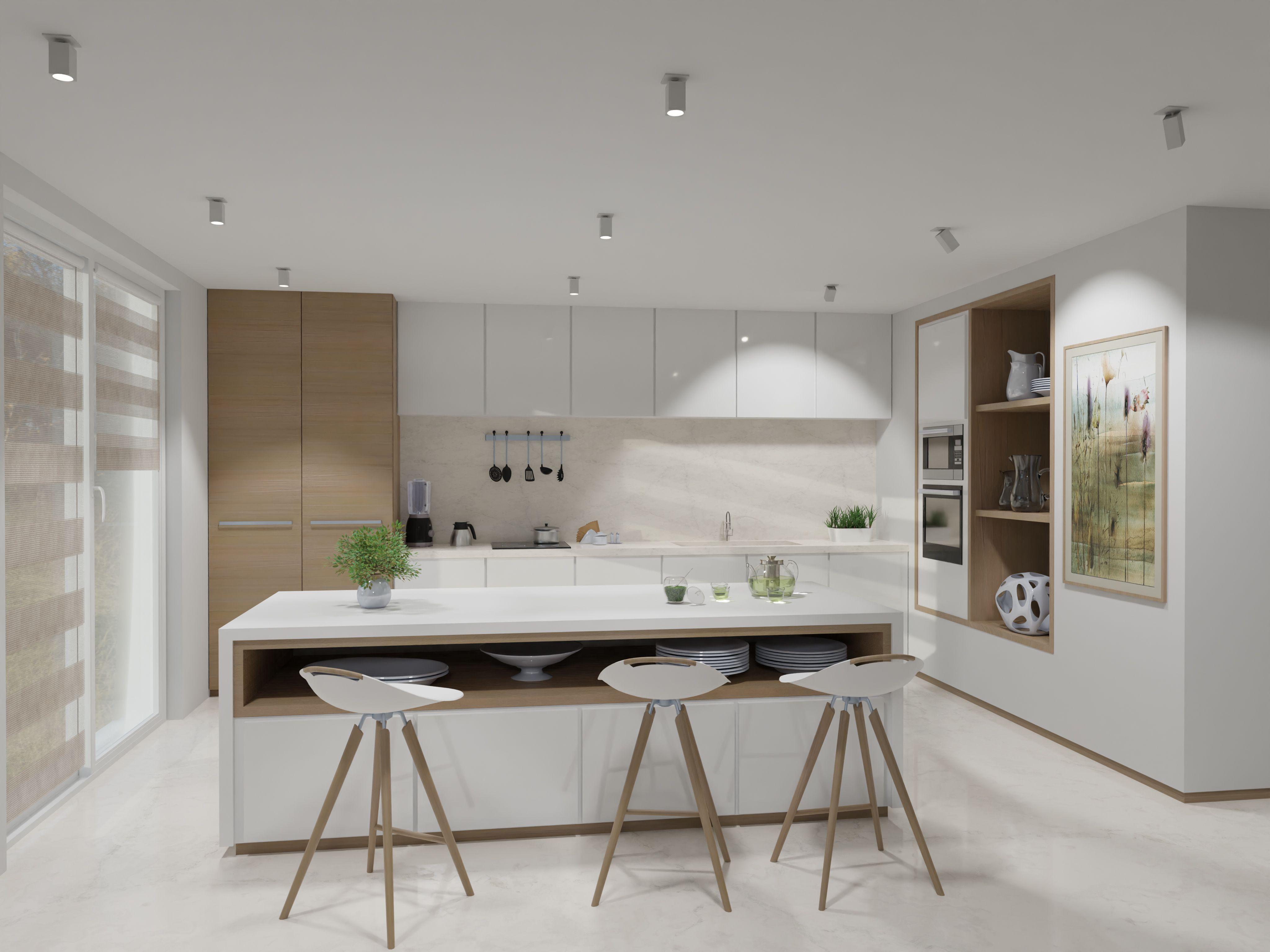 Przestronna Biala Kuchnia Z Wyspa Kitchen Home Decor Decor