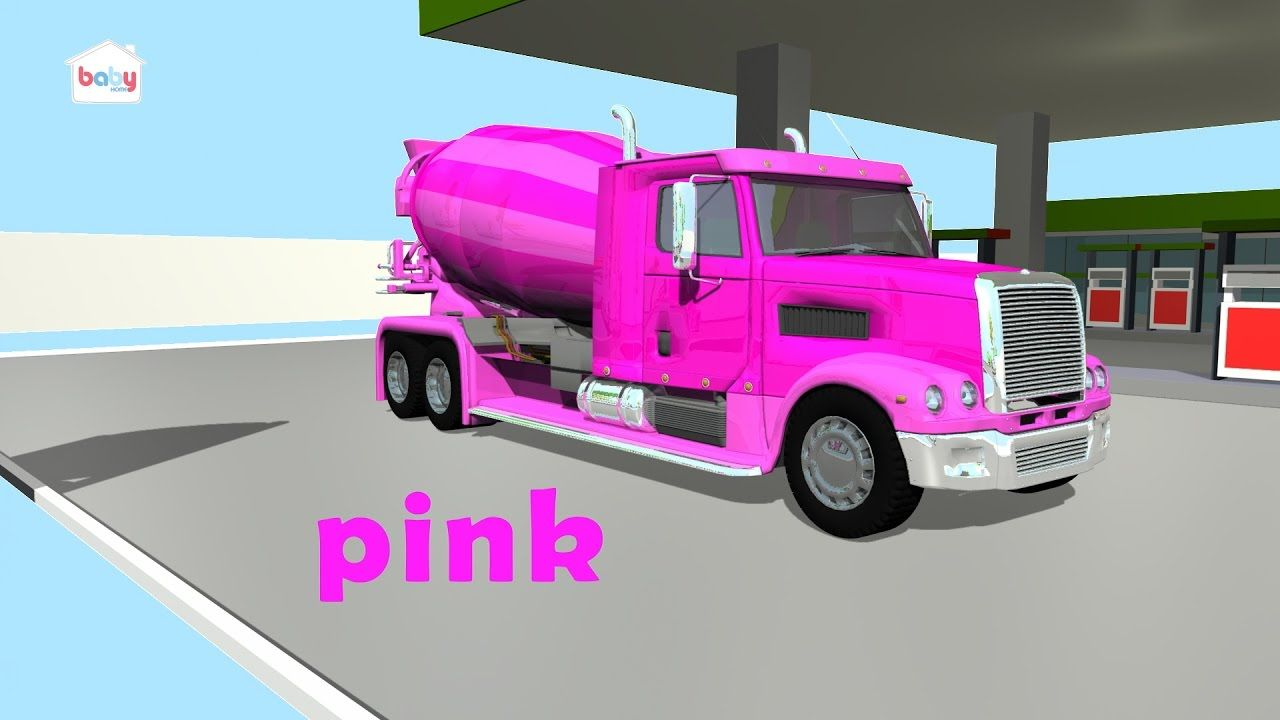 colors for baby to learn with cement mixer truck colors for kids