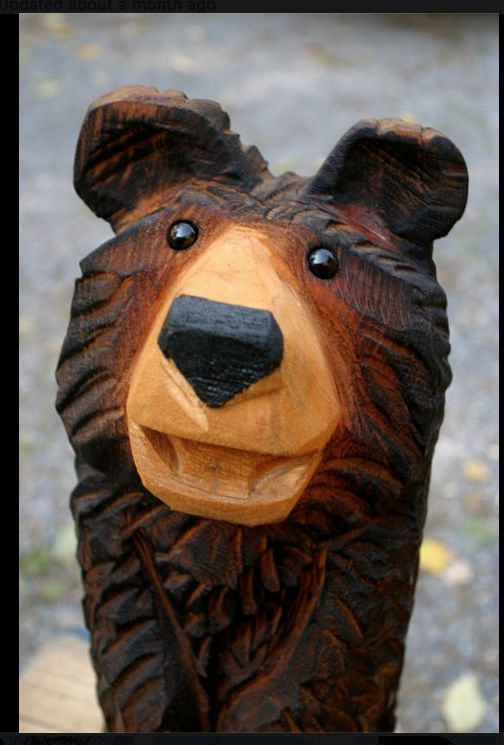 Carved Bear By Jeff Gottfried | Chainsaw Carving | Pinterest | Bären Kettensaegenkunst Holz Carving Motorsaege
