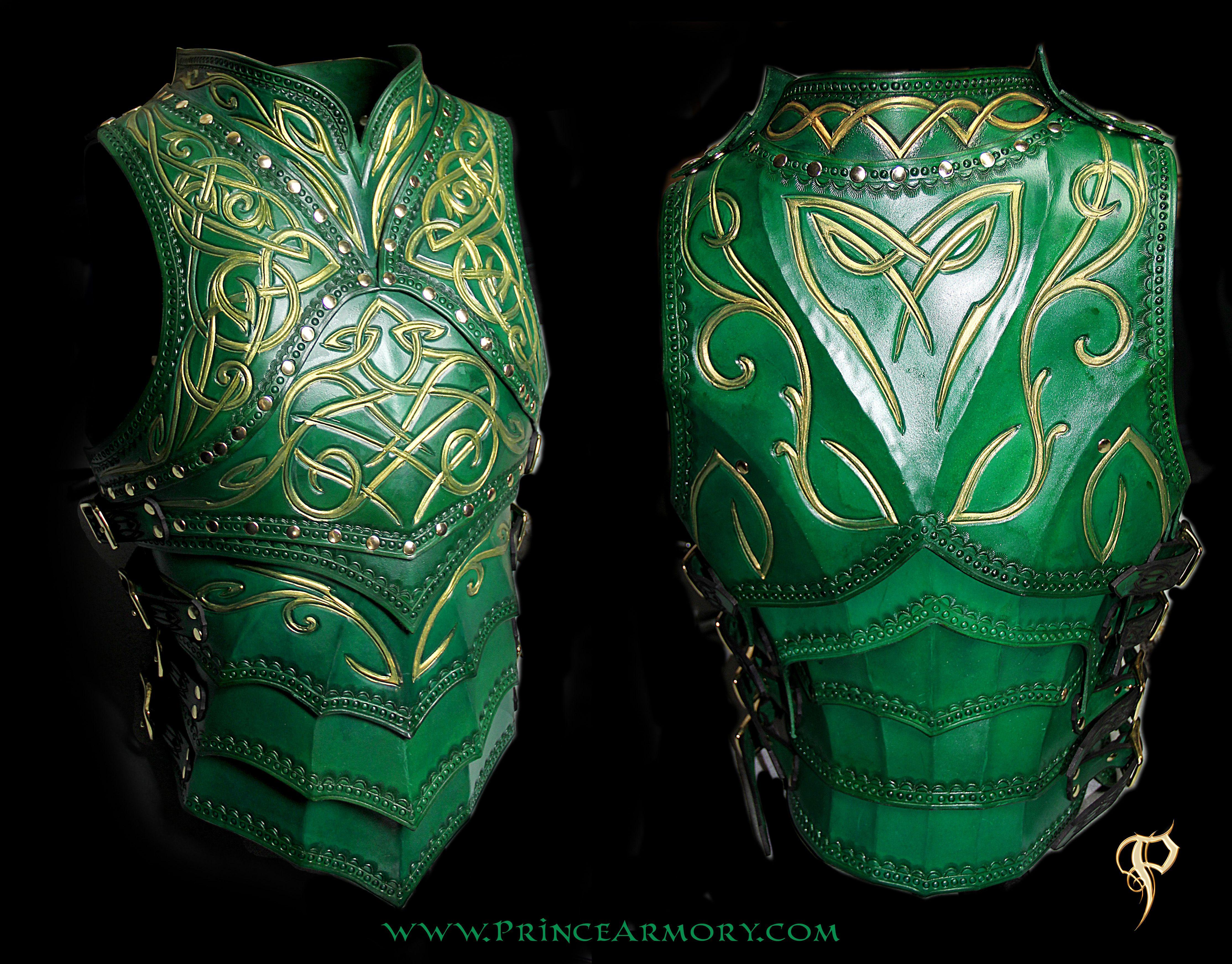 Green Elven Knight Cuirass by Azmal.deviantart.com on @deviantART