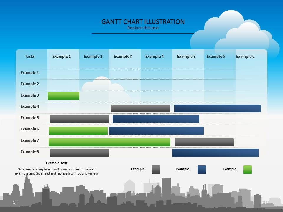 Colorful Gantt Chart Presentation Template Chart Timeline