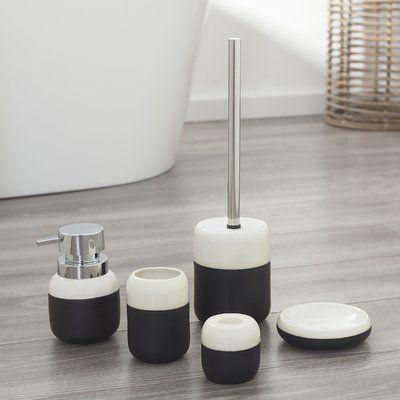 Sealskin Sphere 6 Piece Bathroom Accessory Set Color Black Gray