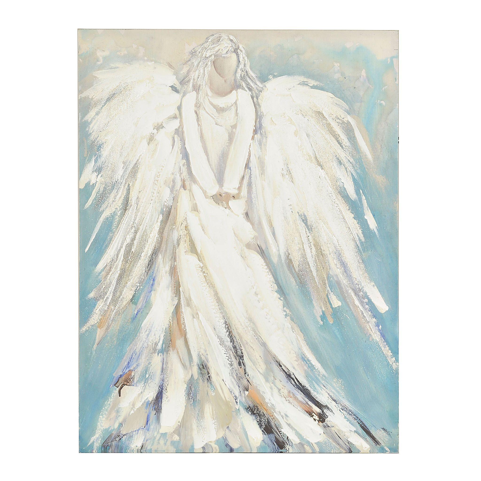 Standing Angel Canvas Art Print Kirklands