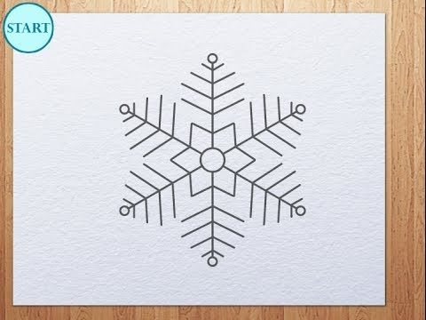 how to draw a snowflake step by step easy