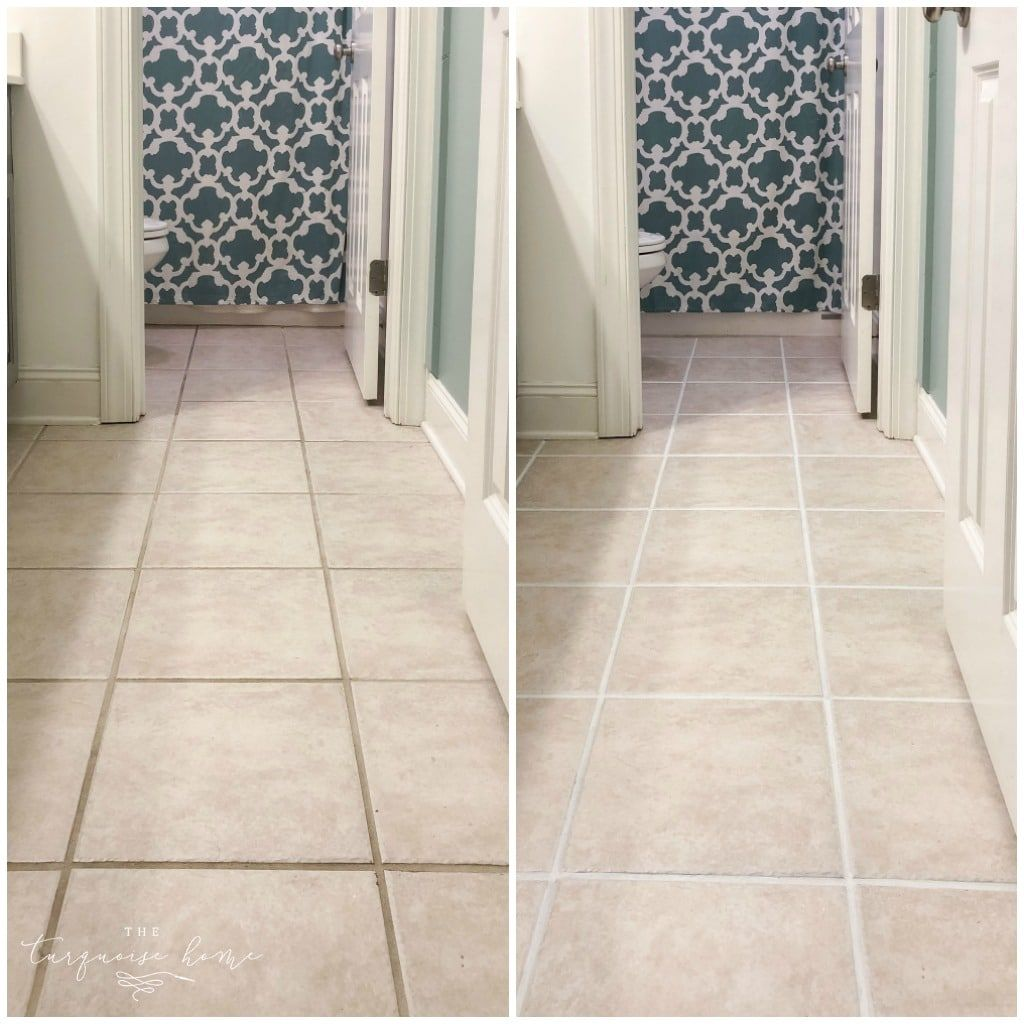 How To Make Grout White Again The Turquoise Home Clean Tile Grout Floor Grout Tile Grout Color