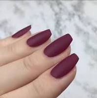 Very Short Coffin Nails Google Search Maroon Nails Short Coffin Nails Coffin Shape Nails