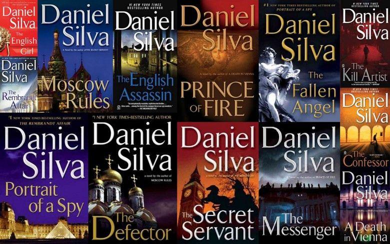 "Daniel Silva's ""Gabriel Allon"" series. Popular book"