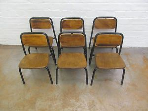 Superior VINTAGE CHILDRENS 1950u0027S RETRO INDUSTRIAL STACKING CHAIRS TODDLER SCHOOL  CHAIRS | EBay
