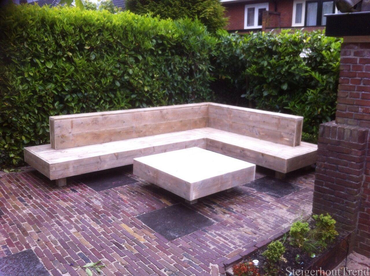 Loungebank tuin steigerhout modern steigerhouten lounge hoekbank