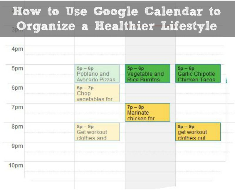 How to Use Google Calendar to Organize a Healthier Lifestyle - google spreadsheet login