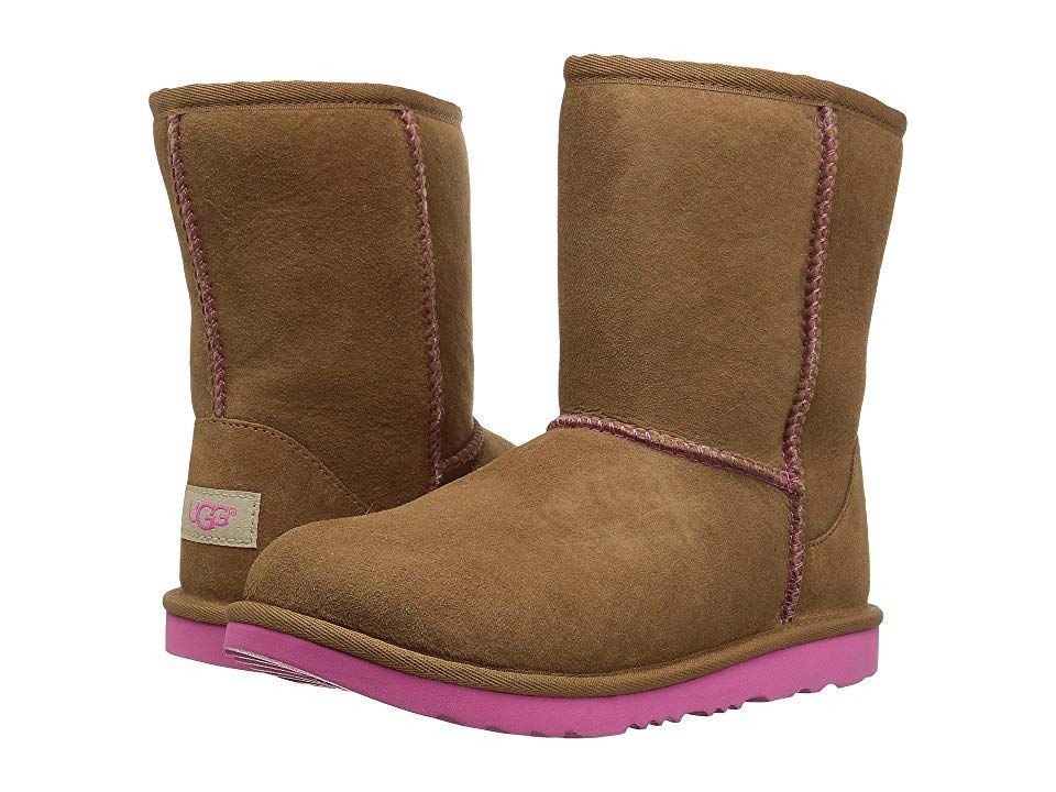 21e3961d496 UGG Kids Classic II (Little Kid/Big Kid) Girls Shoes Chestnut/Pink ...