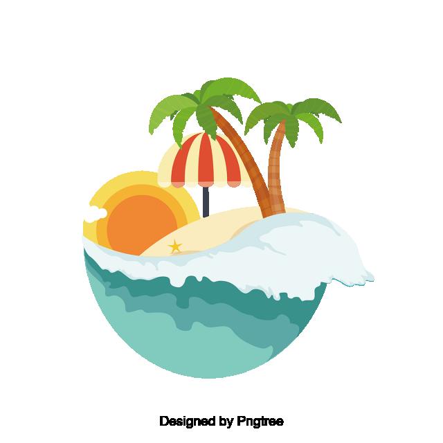 summer vector green island beach summer label summer icon icon vector label vector summer beach icon graphic design background templates beach scenery summer icon icon vector label vector