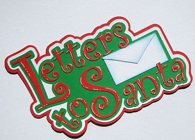 Carta De Navidad Santa Elfos Chica juntar las piezas de papel prefabricados Scrapbook Rhonda rm613art