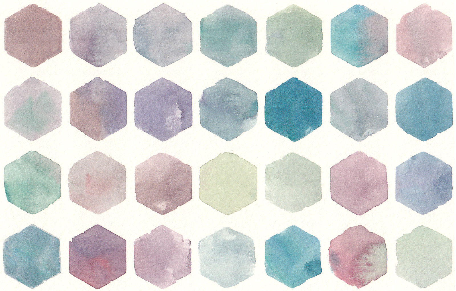 Free watercolor hexagon pattern clip art watercolour for Watercolor painting templates free