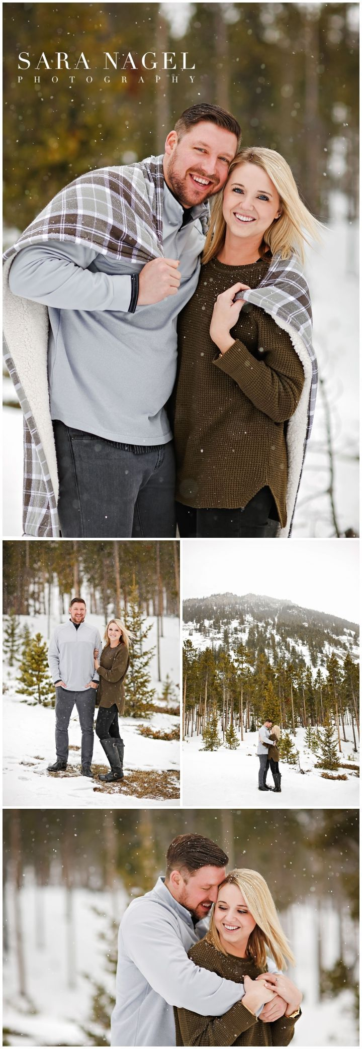 Outdoor Engagement Photo Ideas & Poses - Winter Session in the Mountains - Snow ... -  Outdoor Engagement Photo Ideas & Poses – Winter Session in the Mountains – Snow – Pine Trees  - #bohoEngagementPhotos #Engagement #EngagementPhotosathome #EngagementPhotoscasual #EngagementPhotosdowntown #EngagementPhotosprops #EngagementPhotossnow #EngagementPhotosvintage #Ideas #Mountains #Outdoor #photo #Poses #Session #snow #urbanEngagementPhotos #Winter