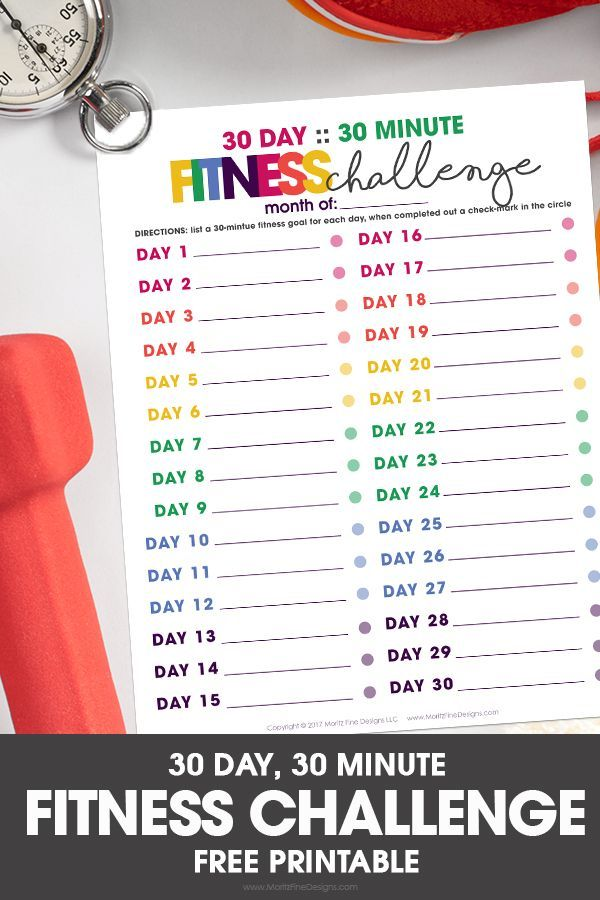 30 Day 30 Minutes Fitness Challenge Remember those #body #Challenge #classpintag #Daily #Day #exerci...