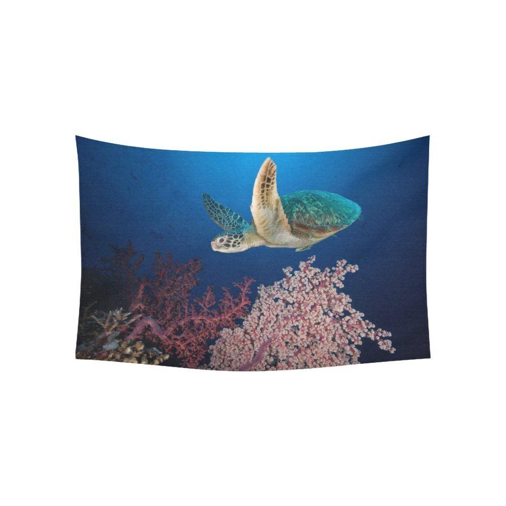 Interestprint underwater ocean animal wall art home decor sea