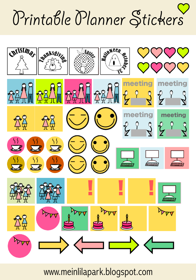Kids Calendar Stickers : Free printable calendar planner stickers great for to do