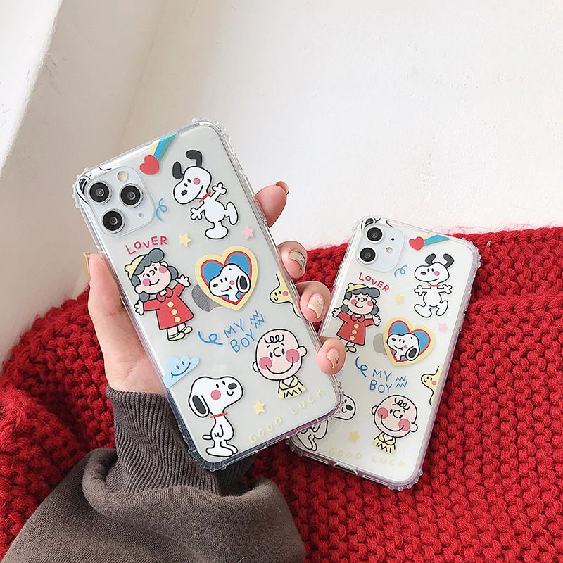 Cute Charlie Brown Lucy dog phone Case for iPhone