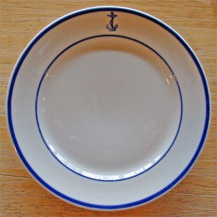 Vintage U.S. Navy Wardroom china bread plates. & Vintage U.S. Navy Wardroom china bread plates.   Home/decor ...