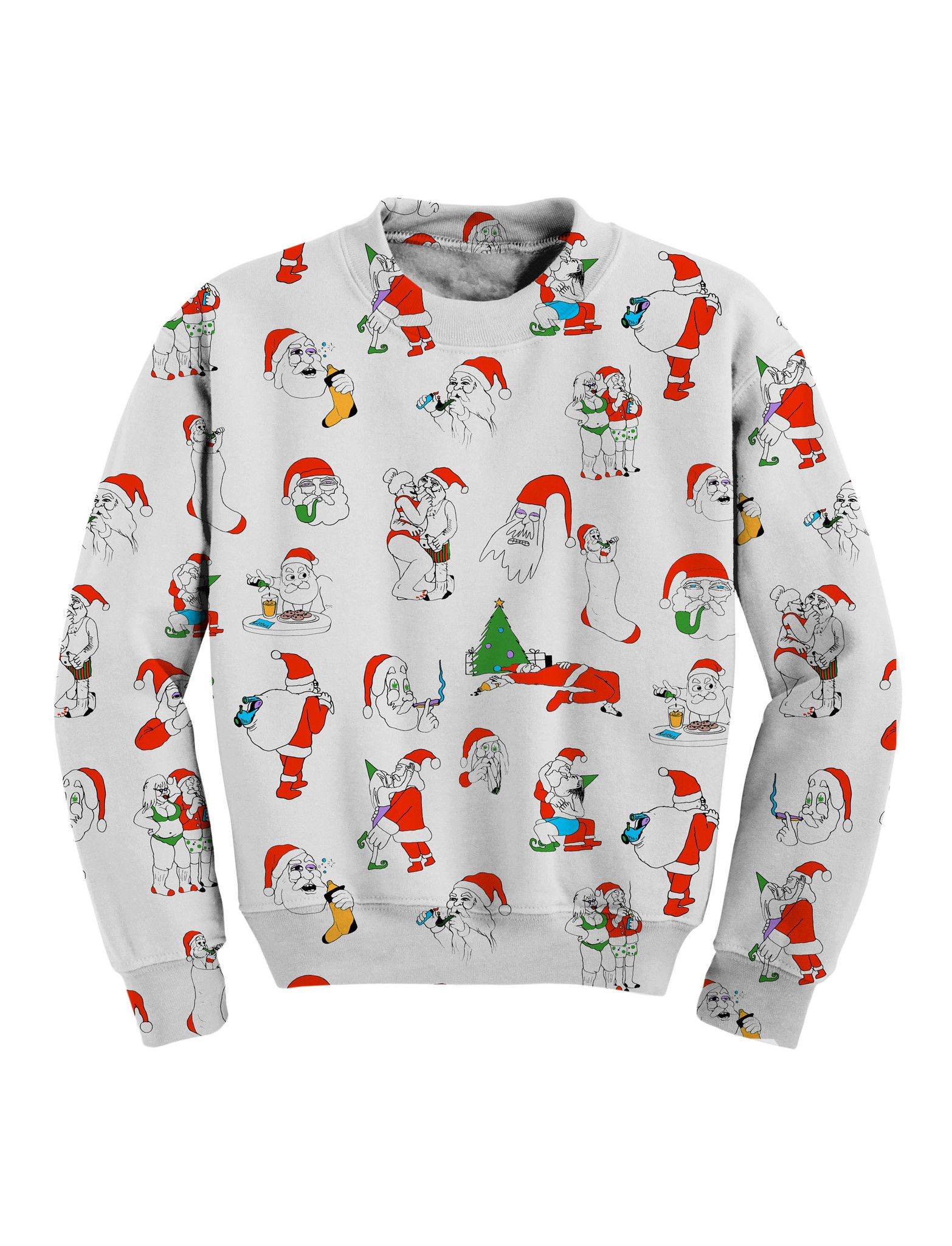 Naughty Santa Sweatshirt | Products | Pinterest | Products