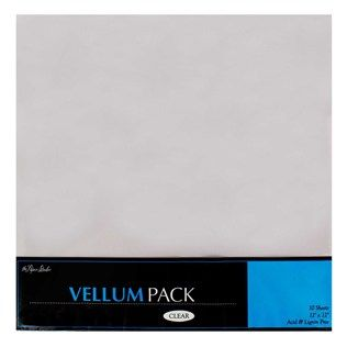 12 X 12 Clear Vellum Paper Pack Shop Hobby Lobby Vellum Paper Paper Pack Scrapbook Paper