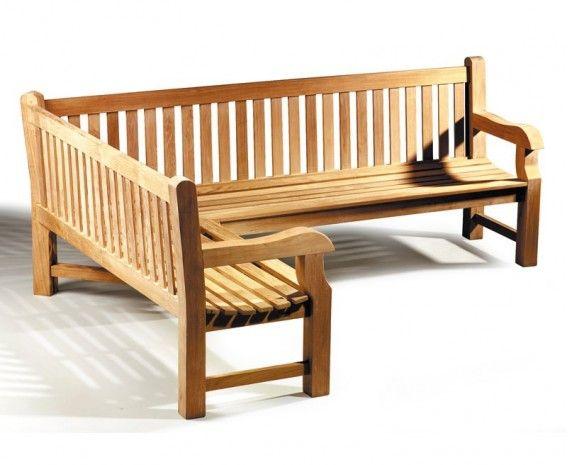 Magnificent Balmoral Teak Wooden Corner Garden Bench Left Orientation Theyellowbook Wood Chair Design Ideas Theyellowbookinfo