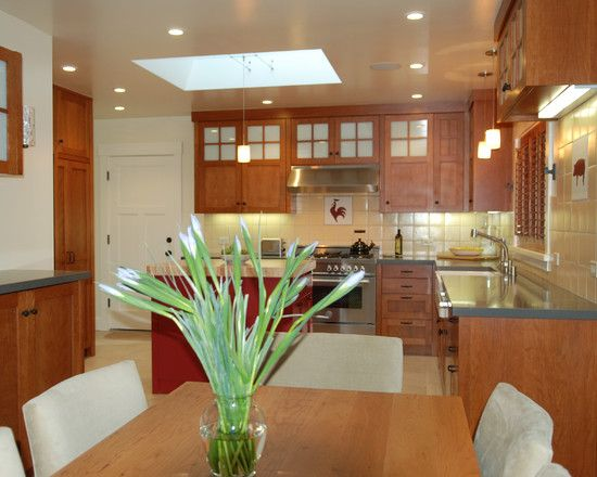 Delicate Interior Remodel for Kitchen and Bathroom : Cozy Traditional Kitchen Design Tile Backsplash San Carlos Remodel