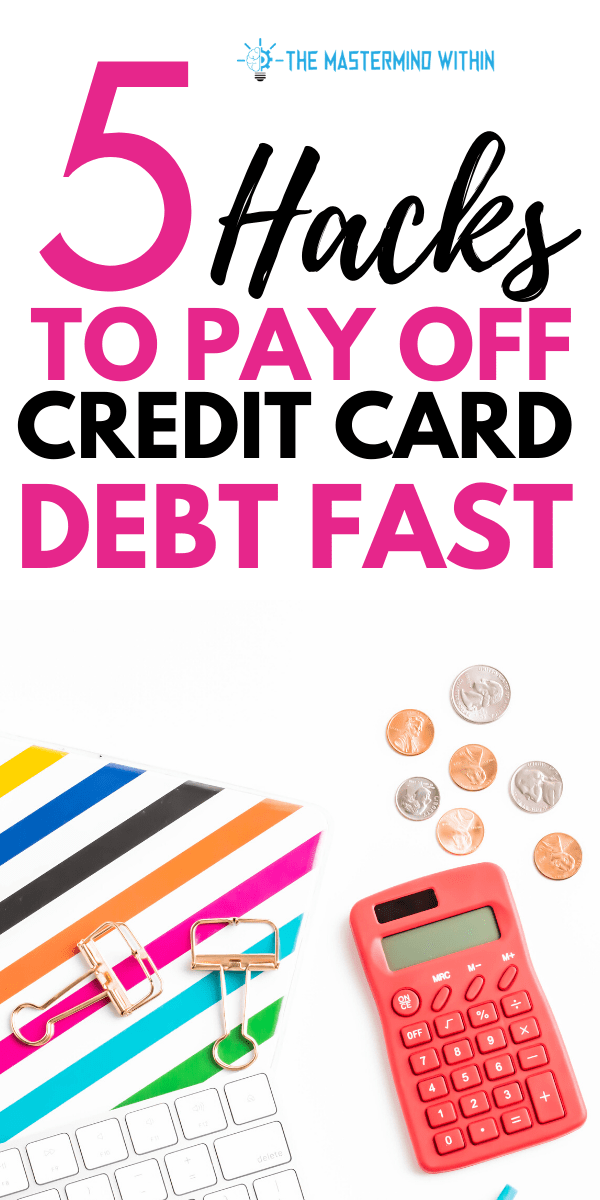 best way to eliminate credit card debt fast