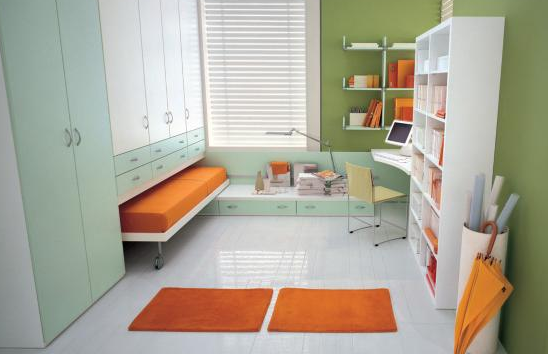 Several Smart Built In Space Saver Units My Sewing Room Unique Bedroom Space Saving Ideas