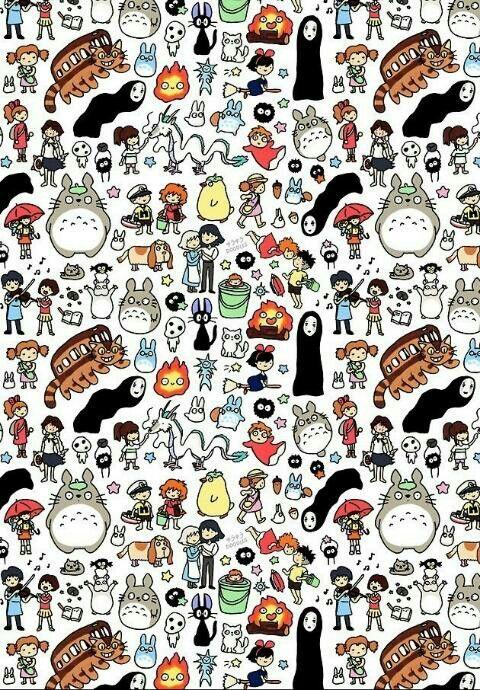 Miyazaki S Collage スタジオジブリ かわいい イラスト 手書き ジブリ