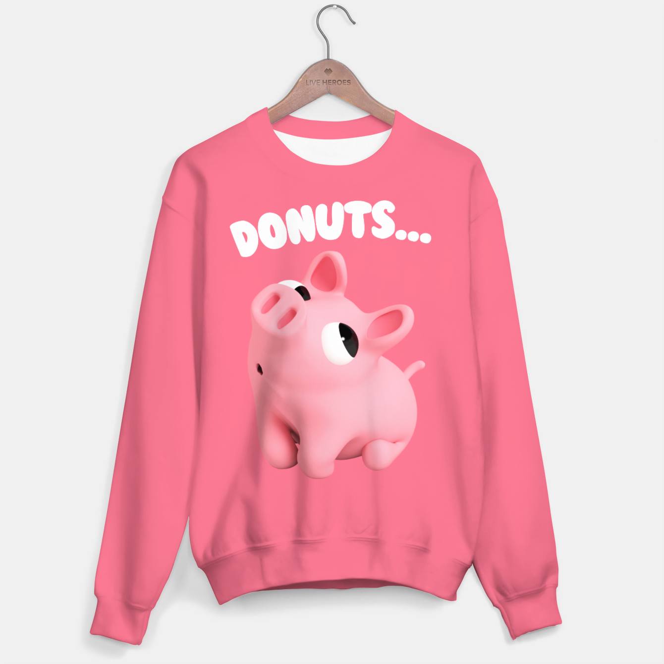 4bdea4b5ca771b Rosa the Pig Donuts Pink Sweater, Live Heroes | Awesome Custom ...