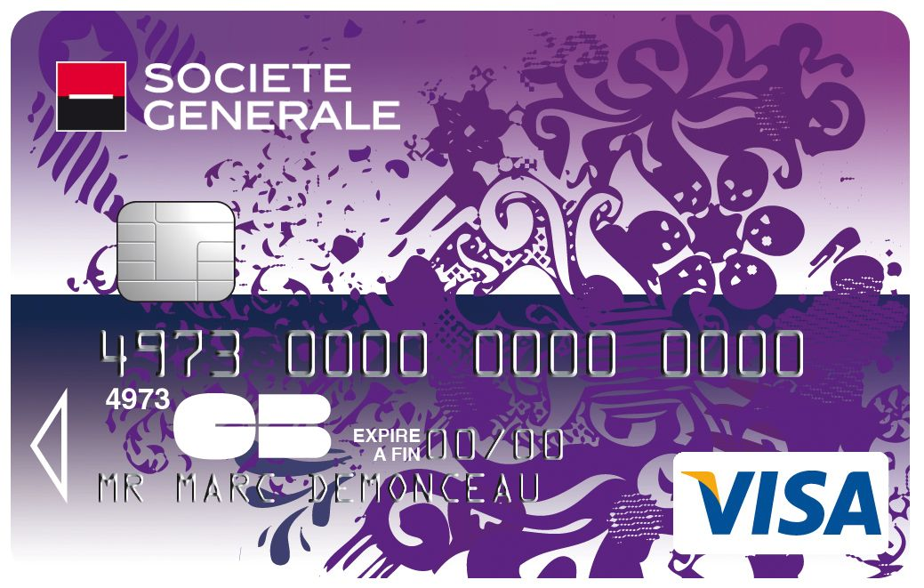 Carte Collection Visa Societegenerale Transparente Violet