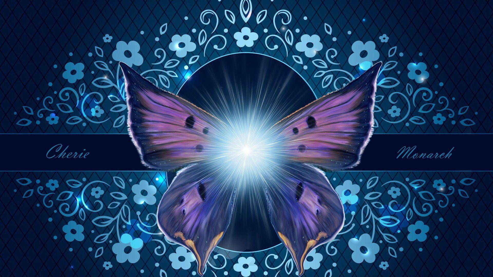 Glowing Girl Butterflies Wallpaper | Butterfly Dedicated ...