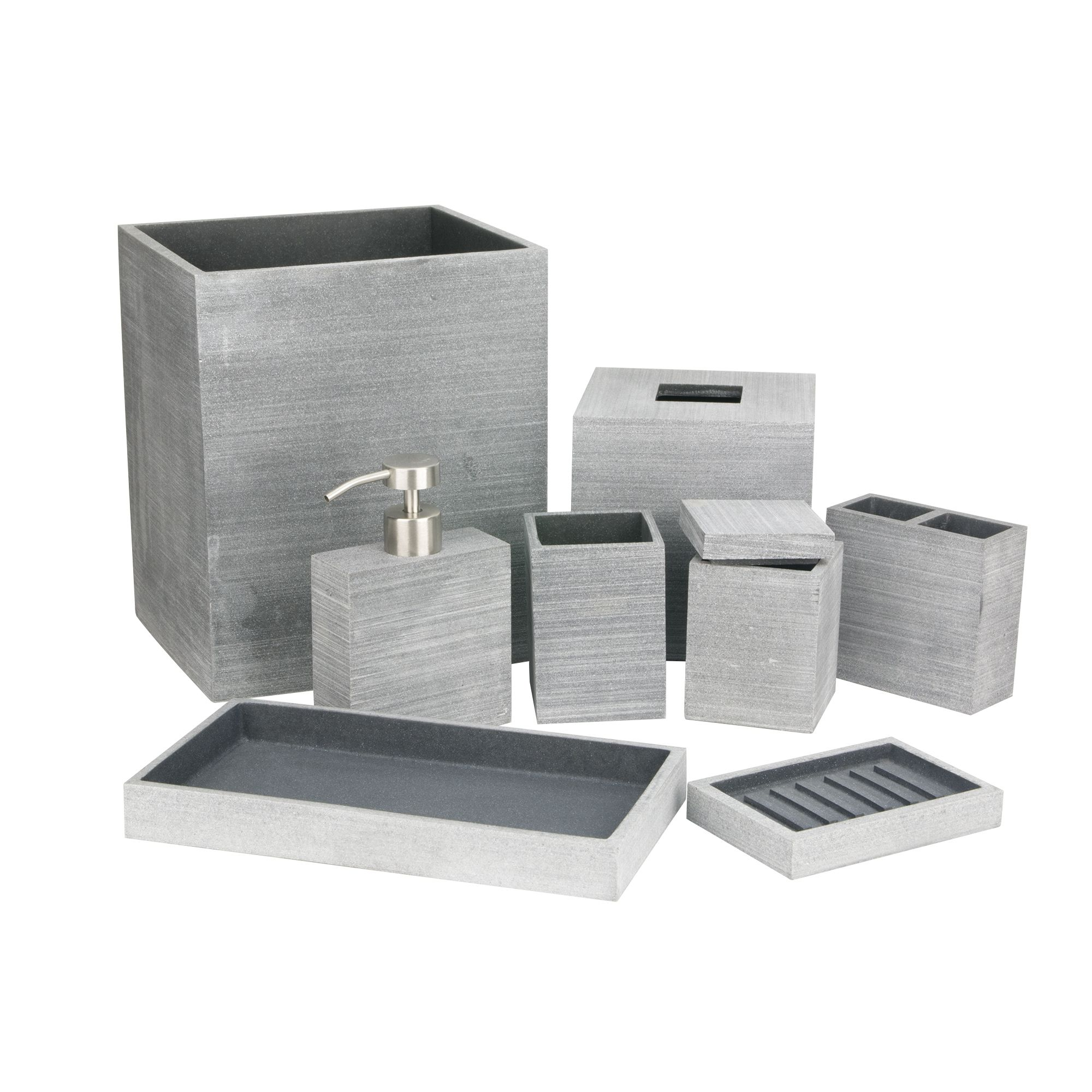 Slate Bathroom Accessories By Kassatex Lotion Dispenser Slate