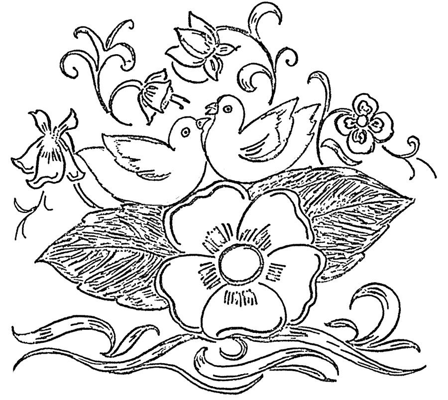 Glass Painting Patterns Free Flowers | Glass Paintings Patterns (Designs)  Library.