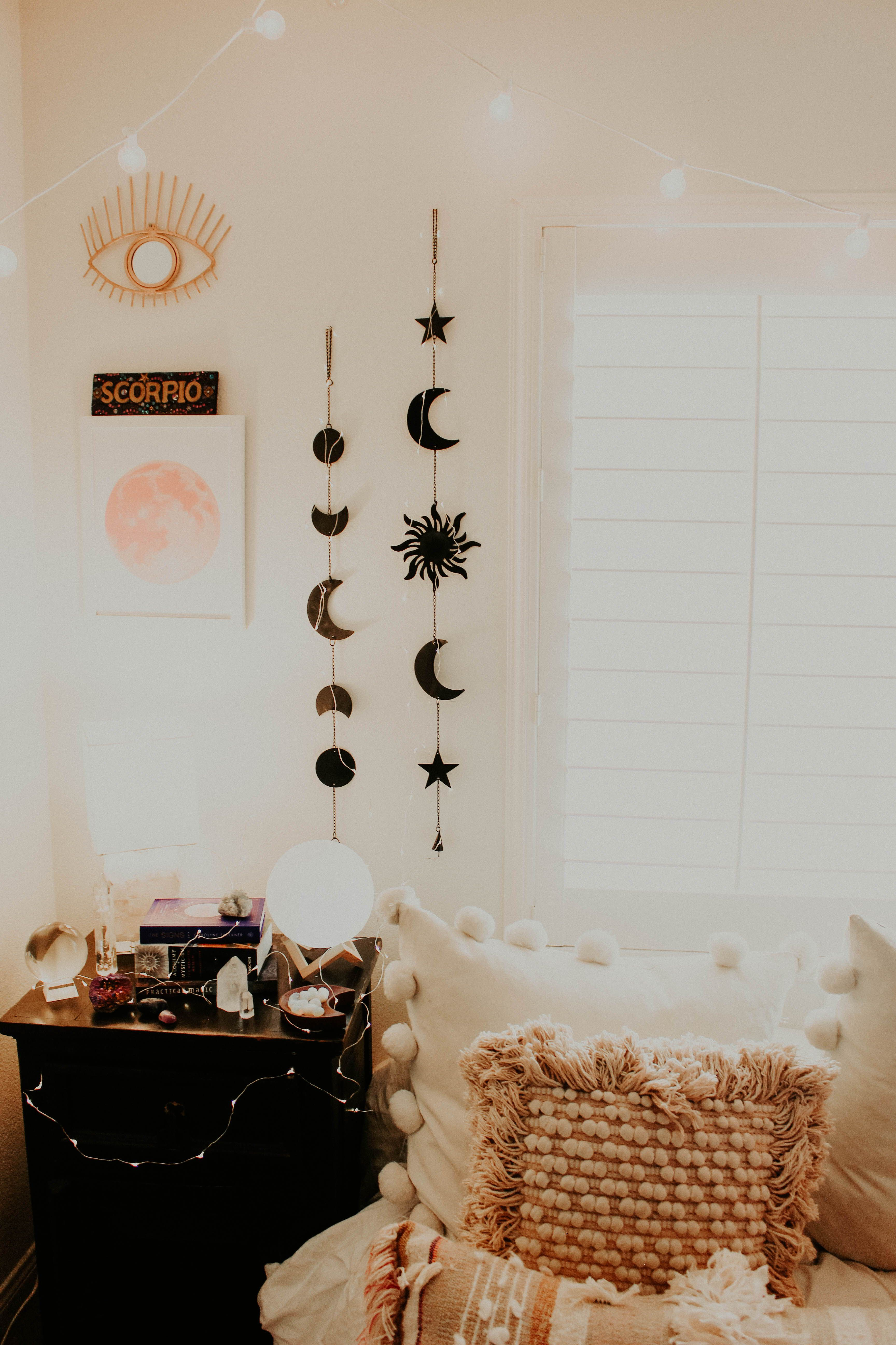 Moon Phases Wall Hanging Decor Aesthetic Rooms Room Decor Room