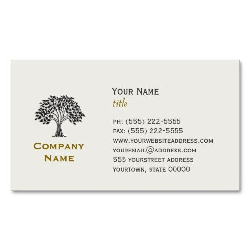 Wise Old Tree Business Card. This great business card design is available for customization. All text style, colors, sizes can be modified to fit your needs. Just click the image to learn more!