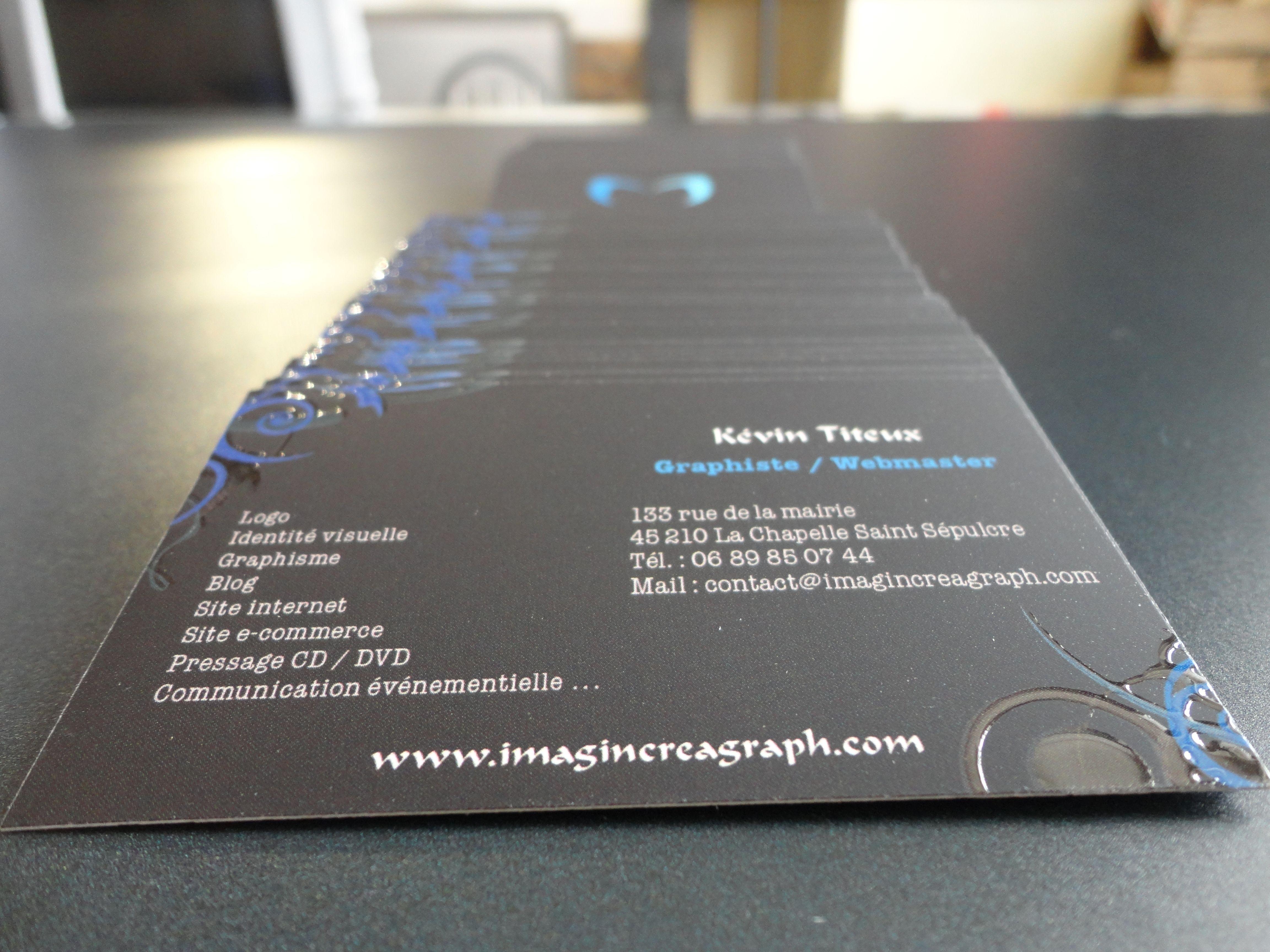 Realisation De Cartes Visite Imprimees Au Format 85 X 54 Cm