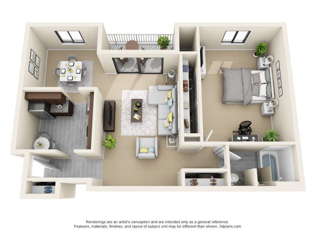 Our Hamilton 1 Bedroom 1 Bath Floor Plan Floor Plans House Floor Plans House Plans