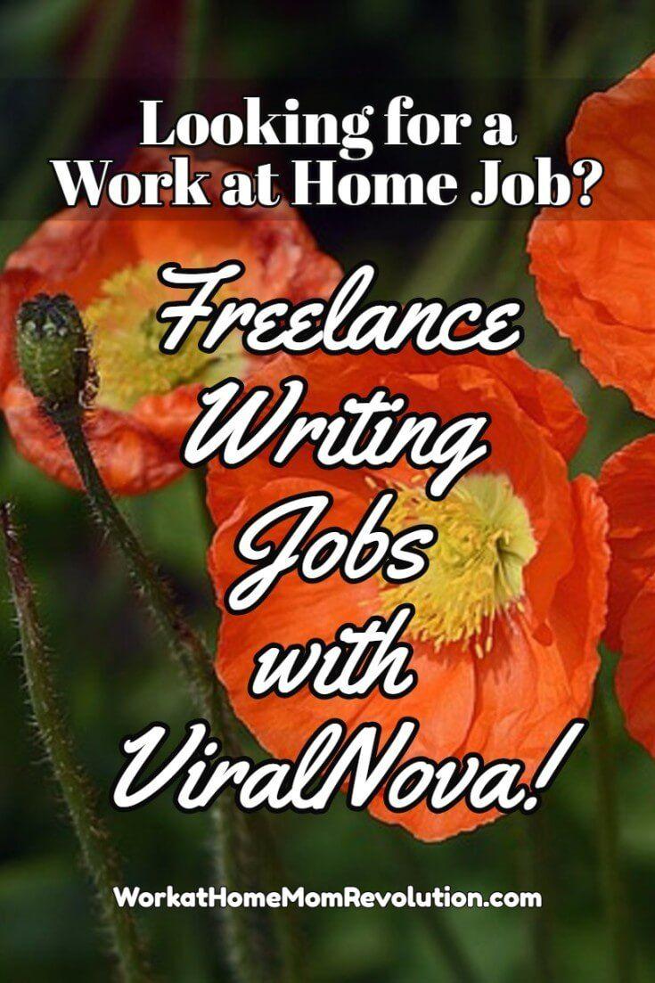 Freelance Writing Jobs With Viralnova Work At Home Mom Revolution Writing Jobs Freelance Writing Jobs Freelance Writing