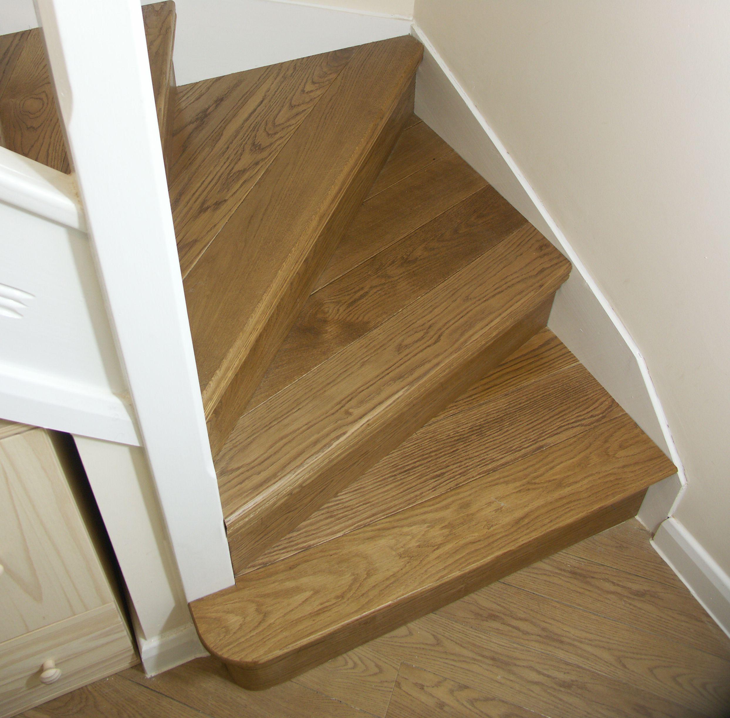Gentil Oak Stair Cladding | Oak Kyte Winder Flight | Oak Bullnose Bottom Step