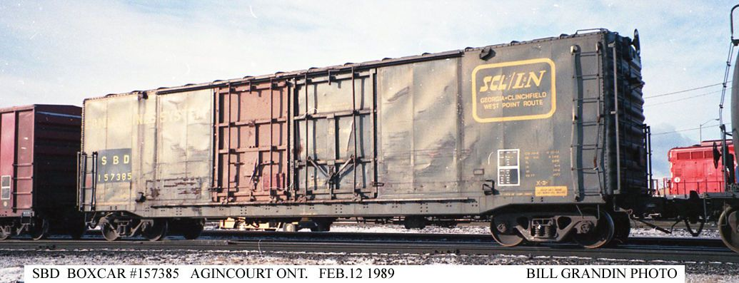SBD XL 157385 - Agincourt ON - 02/12/89 - {Bill Grandin Photo}