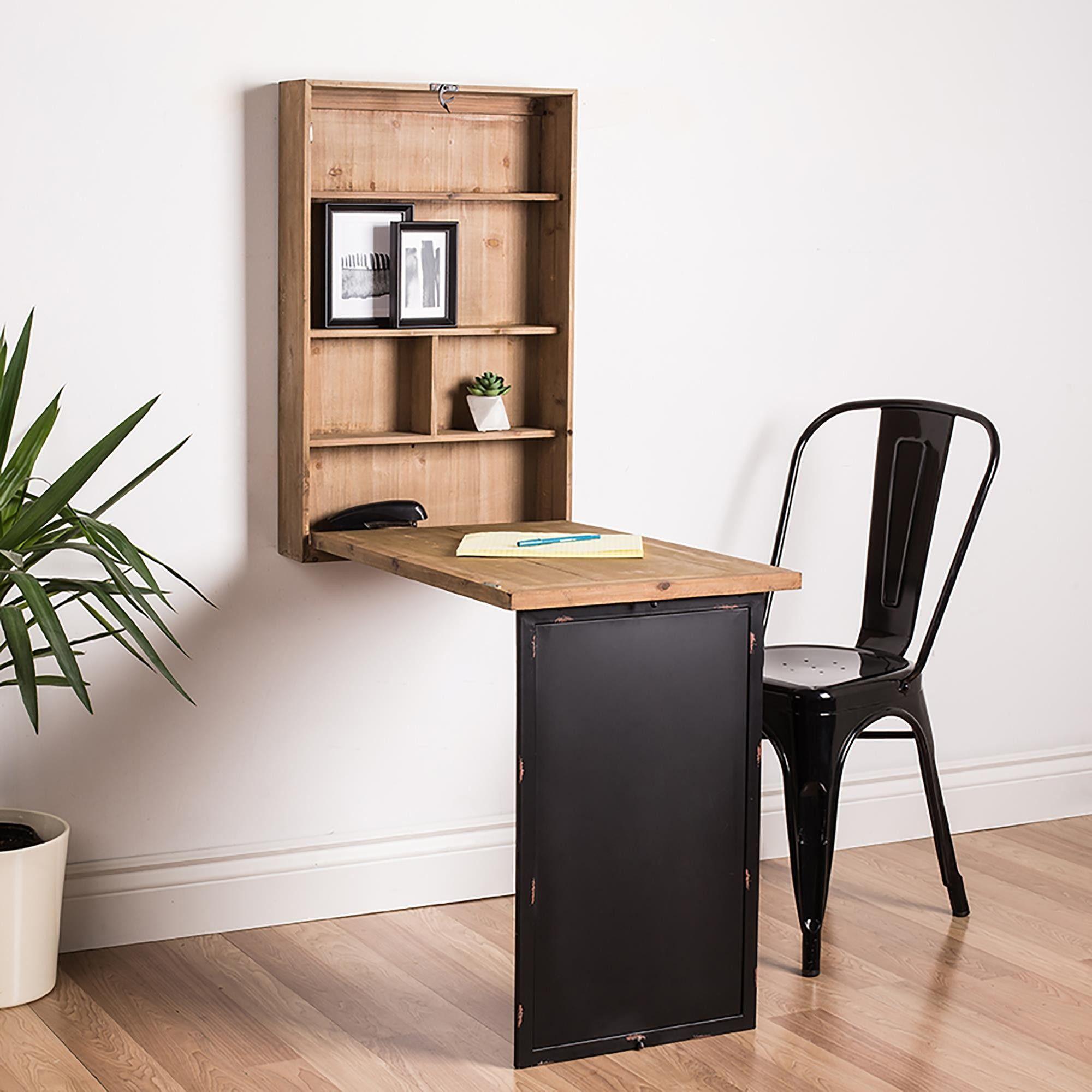 Genial Home Essentials Rustic Home Fold Away Desk (Wood Grain)