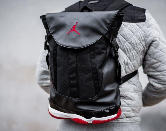 "8521ae04b6e9 Air Jordan 11 Retro ""BRED"" Backpack"