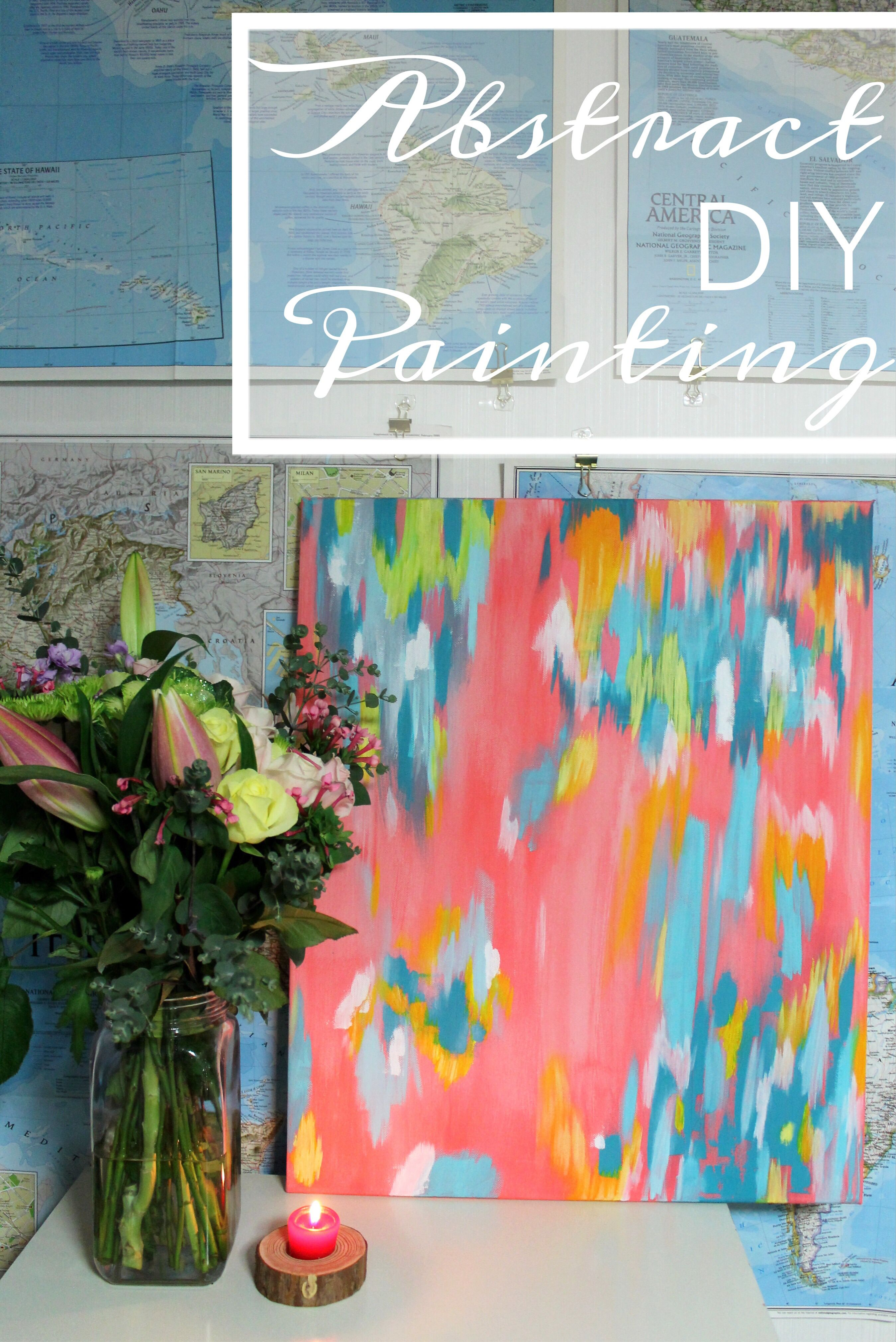 Abstract Painting Tutorial By Lauren Likes Lauren Likes Blog